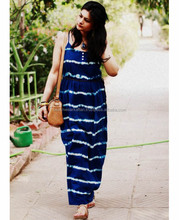 Rich Looking Casual Dresses For Girl's Wear Rayon Tie Dye Summer's Maxi Dress With Spaghetti Straps