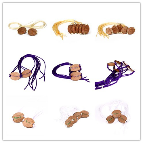 New product Recyclable Wood RFID Fabric Wristbands For Events