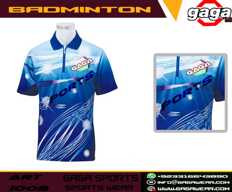 Customized Sportswear Full Sublimation Printing Badminton Jersey