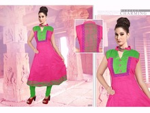 Swarn Pankh Taaj Pure Cotton Anarkali Style Full Stitched Ready To Wear Kurti kurta For Women