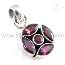 Glazed garnet silver charms gemstone jewelry 925 sterling silver jewellery manufacturer india