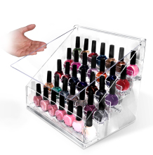 Nail polish acrylic makeup organizer with drawer Hot selling in korea