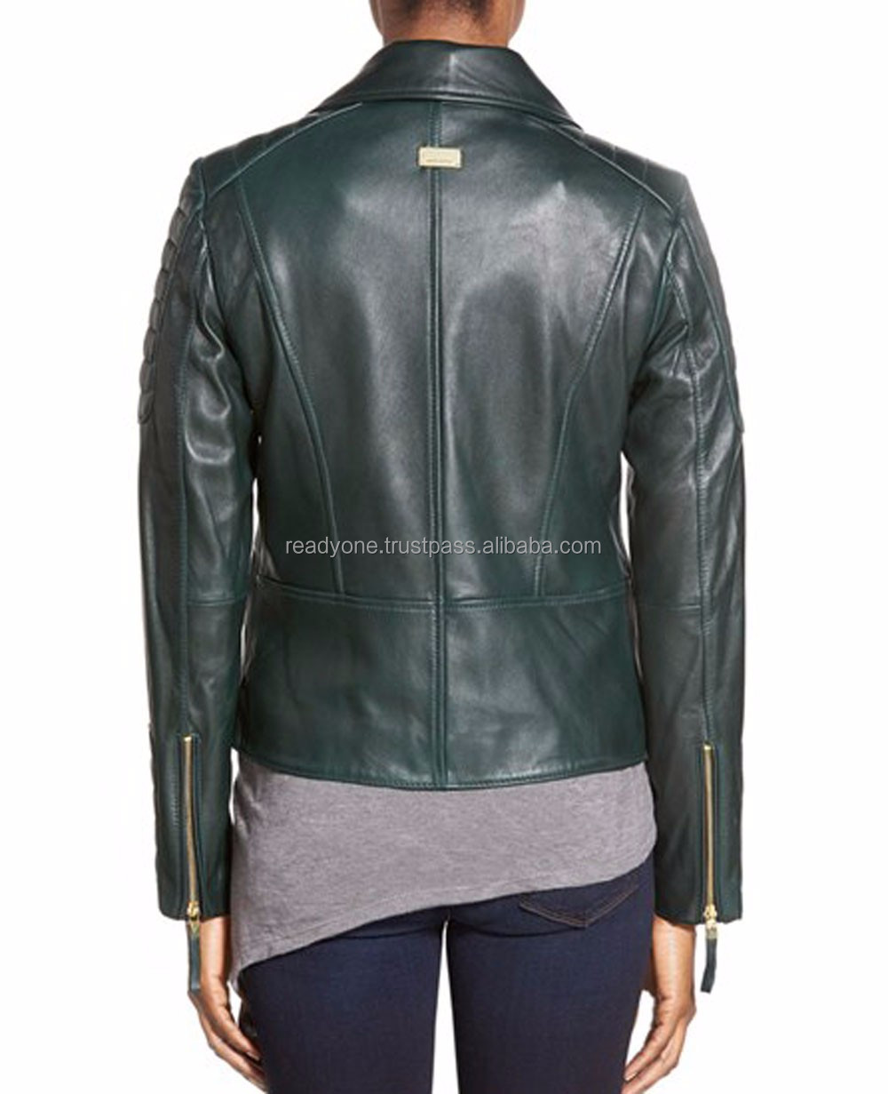 Premium Fashion Women Leather Jacket Autumn Winter Women blank coat Cheap Lady Motorcycle