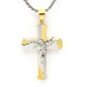 Large Gold silver Catholic Religious Jewelry Jesus Crucifix Cross Pendant