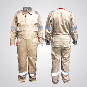 AMERICAN SAFETY DOHA COVERALL 100% COTTON WORKWEAR WITH REFLECTIVE TAPE