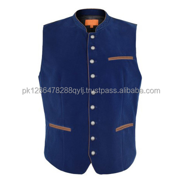 2016 German Pouplar Brand Name Trachten vestcoat with flower embroidery pattern (Traditional vests)