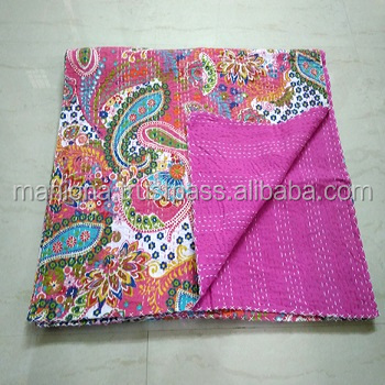 Factory Directly Provide Factory Price Latest Design Elegant Cotton Kantha Quilt
