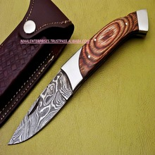HAND FORGED DAMASCUS POCKET FOLDING KNIFE BACK LOCK