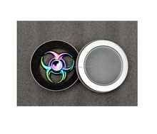 Rainbow Hand Fidget Spinner Stress Titanium Metal Alloy EDC High Speed Focus Toy