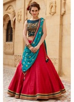Indian Designer Embroidered Lehenga Choli