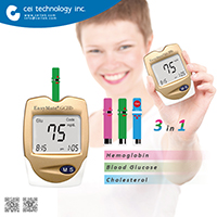 CE ISO 3 in 1Blood Pressure/ Glucose/ Cholesterol bluetooth blood pressure monitor