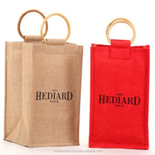 Wine Tote Bag / Jute wine Bag / personalized wine gift bags