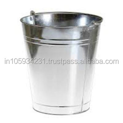 Silver finish - Tin Wine bucket with out lid for Regular Use