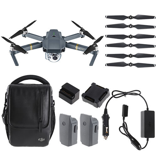 100% Original DJI Mavic Pro 4K Camera Quadcopter Drone Fly More Combo Pack / 2 Extra Batteries