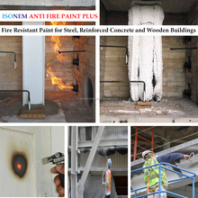 ISONEM ANTI FIRE PAINT FIRE RETARDANT PAINT FOR STEEL, WOOD, CONCRETE SURFACES