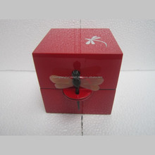 high quality try - the best selling painting dragonfly red square box