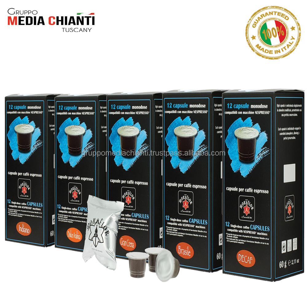 COFFEE CAPSULES Compatible with Nespresso and similar Made in Italy