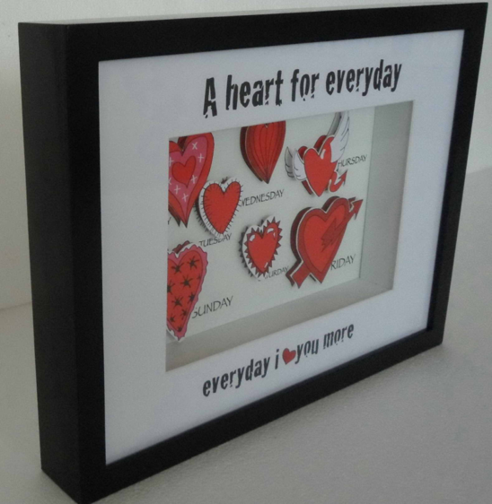 "Frame shadow box ""A Heart for Everyday"""