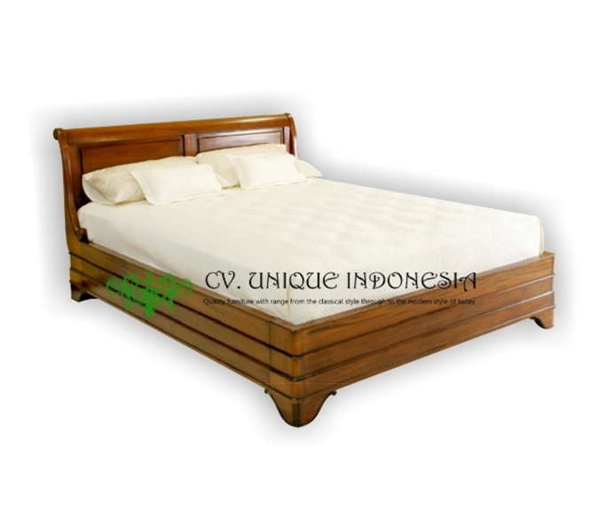 BED - FRENCH SLEIGHT BED - BED ROOM FURNITURE