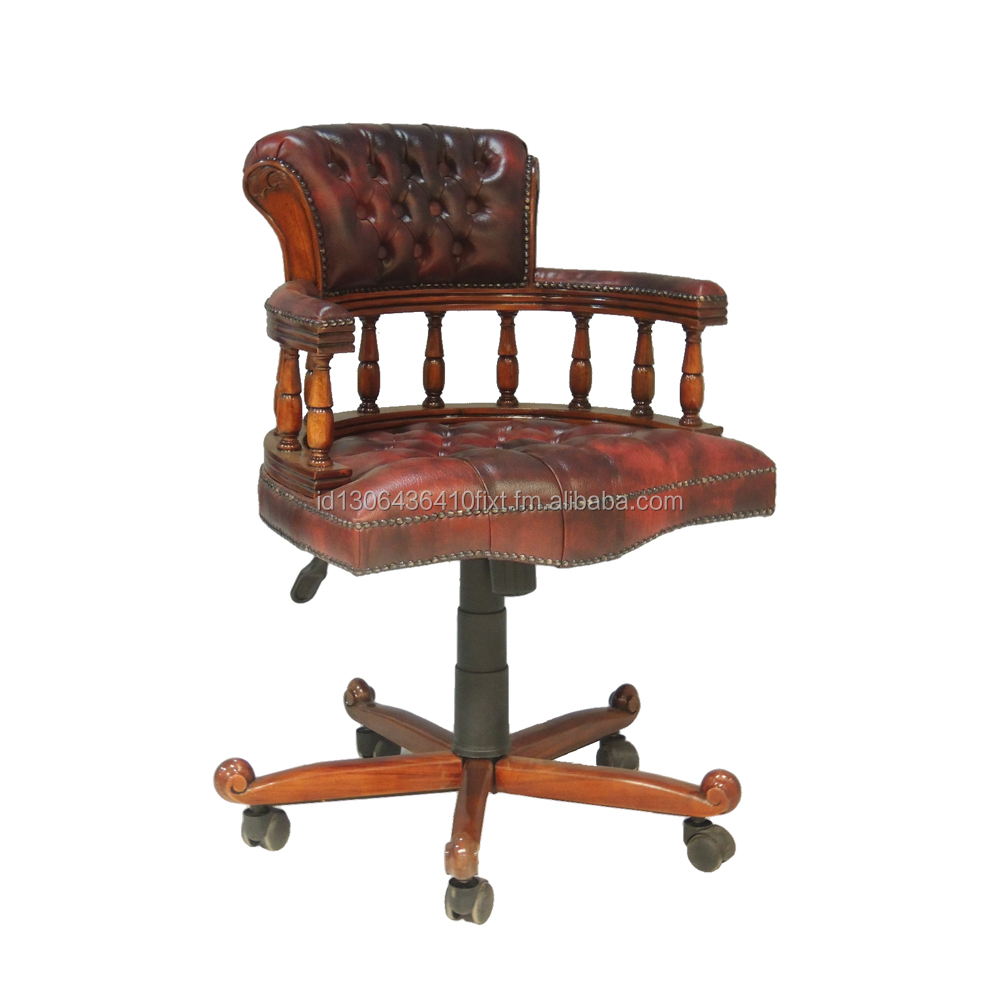 High Quality Office Arm Chair Captain Wood Leg Furniture