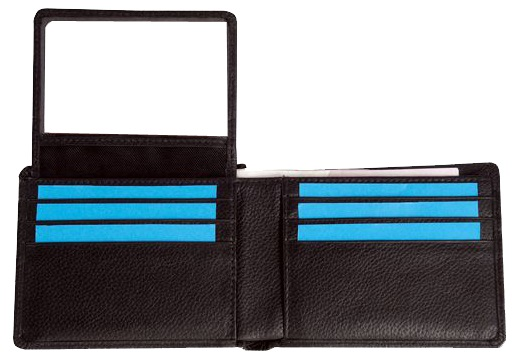 Classic style leather mens wallet with 10 credit card slots/holder