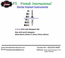 4.2mm Dental Implant Drill with Stoppers Set ,Dental Implant Material Certified By CE