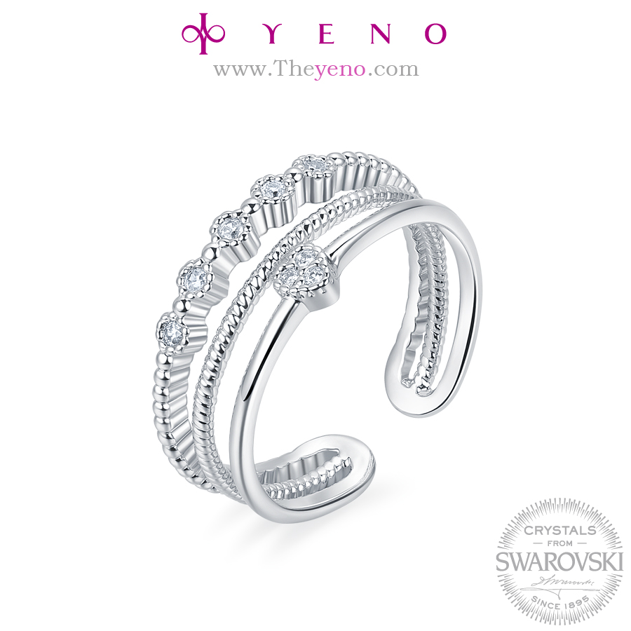 New design korean YENO Crystals from Swarovski Jewelry Fashion Ring Women finger ring Special Gift Wedding Rings