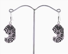 Zephyrr Fashion INDIAN LADIES FANCY EARRINGS PAISLEY DESIGN OXIDIZED DAILY WEAR DANGLERS