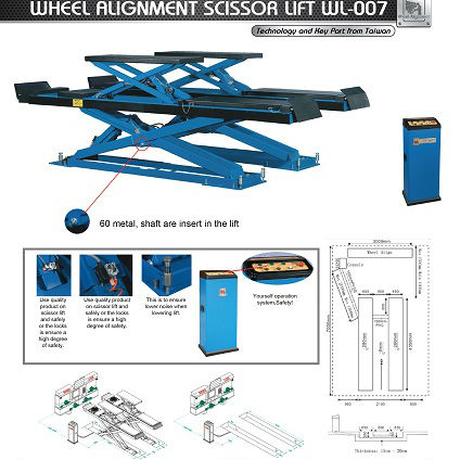 Factory Direct Supply Wheel Alignment Scissor Car Lift