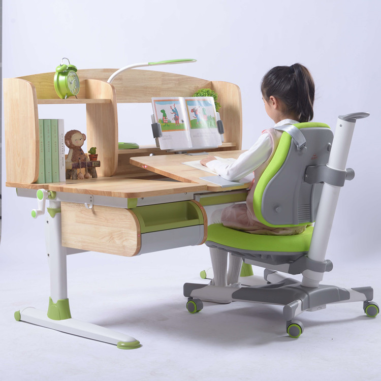 Wood Study Table Desk and Chair Children Furniture Sets