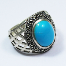 925 sterling silver AA quality turquoise gemstone ring