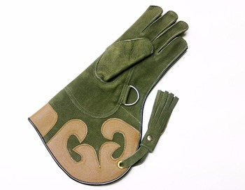 Ladies High Quality Soft Suede Leather Falconry Gloves.