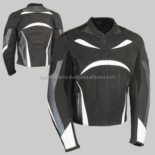 COW HIDE MILLED LEATHER MOTORBIKE JACKET
