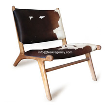 LOUNGE CHAIR - COWHIDE COWSKIN COW LEATHER CHAIR WHOLESALE
