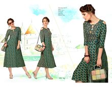 Indian Kurtis and Tunics Ethnic Designer Fancy Women's Top Cotton and Rayon materials available for exports from india