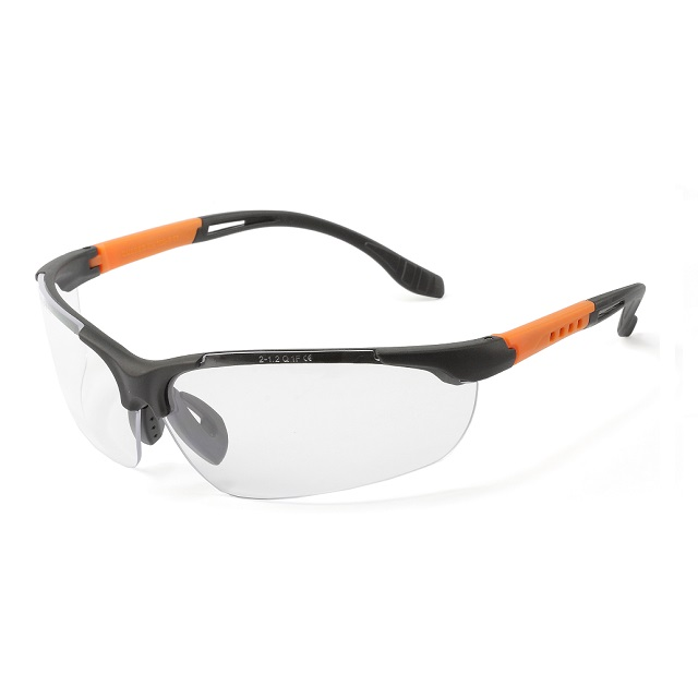 QB Phoenix Protective safety eyewear,8 base curved lenses, anti-fog lens,semi-frame, direct ventilation system, snug fitting