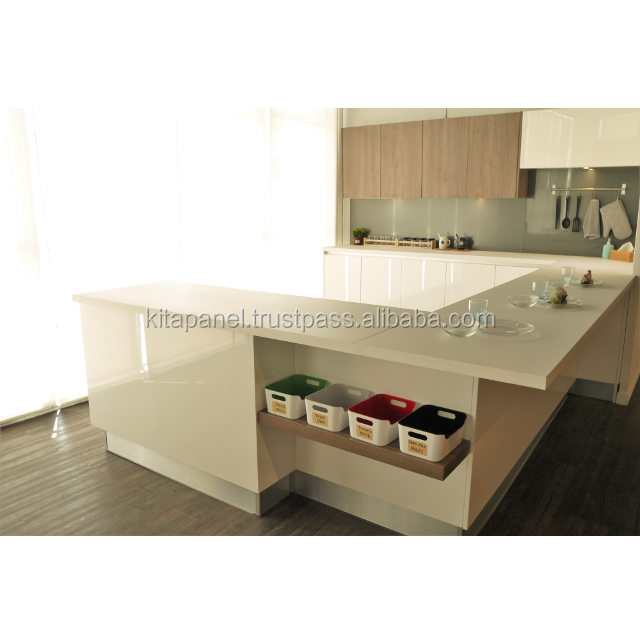 High Quality Modern Modular Spray Paint MDF Kitchen Cabinet