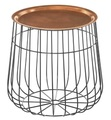 Modern Design With Copper Top Round Wire Coffee Table
