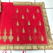 Heavy bridal hand work saree