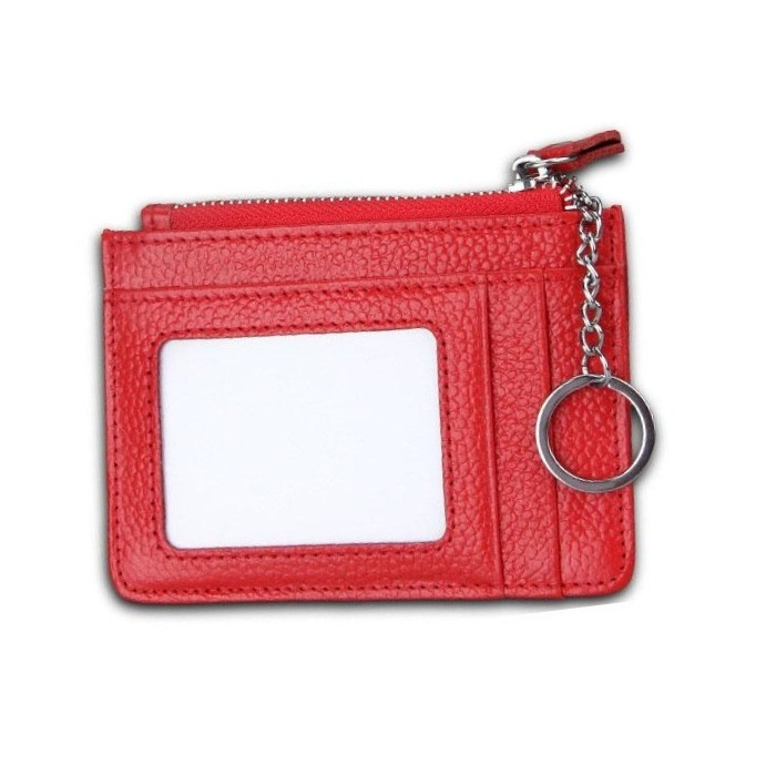 Women's Slim Card Case Wallet In Leather