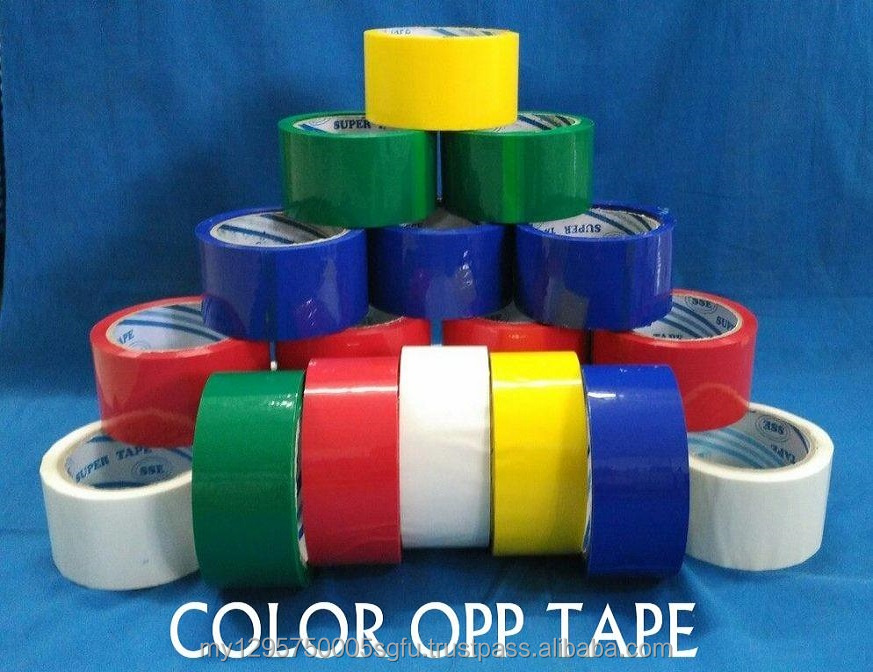 Strong Adhesive color OPP Packaging Tape with water base, solvent base, rubber base