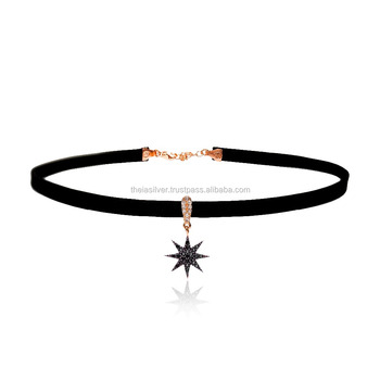 Inanna Star Symbol 925 Sterling Silver Choker Necklace Collar Jewelry