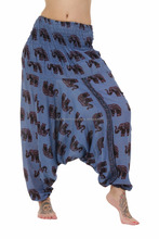Hand print Indian harem pants Wholesale Aladdin harem pants-Rayon hare, pants - Dance harem yoga