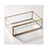 Brass metal glass box