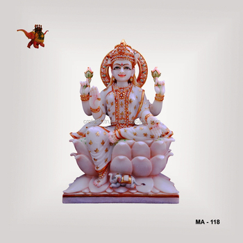 Marble Painted Sitting Laxmi