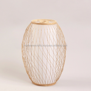 New product bamboo wicker lantern made in Vietnam/ bamboo candle holder