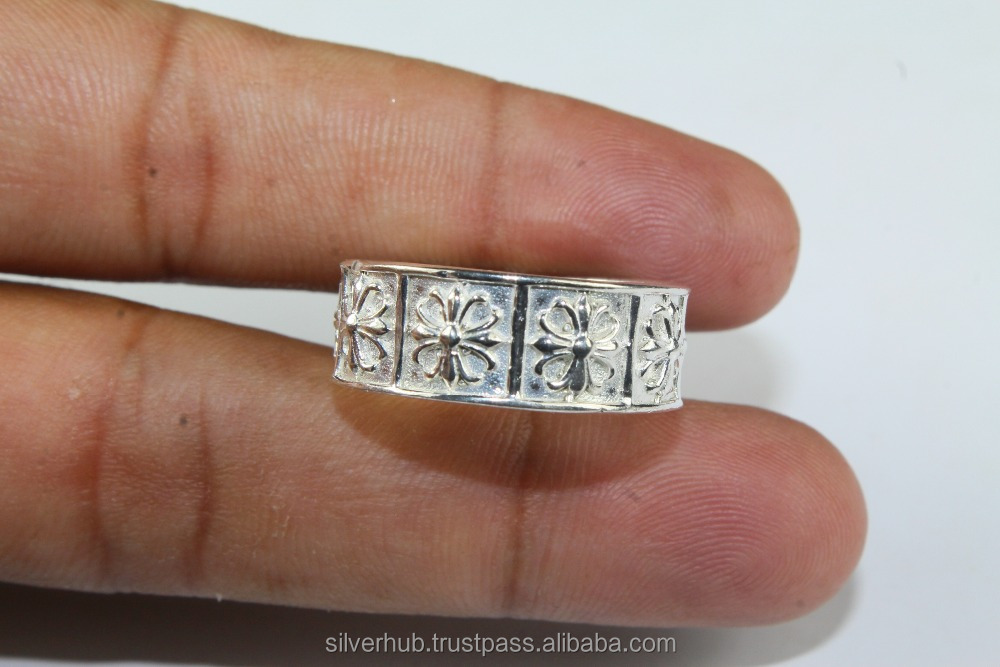 Top Rated 925 Wholesale German Silver Handmade Fashion Metal Ring Jewelry
