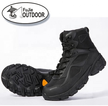 Outdoor shoes desert tactical boots special forces hiking boots men's leather black tactical military shoes