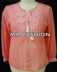2017 Shirt blouse beautiful chikankari top for girls
