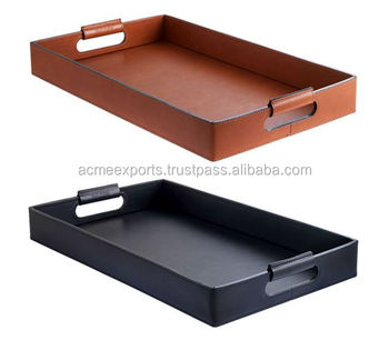 Restaurant Serving Tray | Leather decorative trays for indian wedding | dubai serving trays | custom food trays
